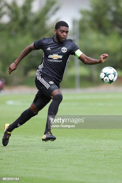 Manchester United defender Ro Shaun Williams from England during SL Benfica v Manchester United UEFA Youth League round three match at Caixa Campus...
