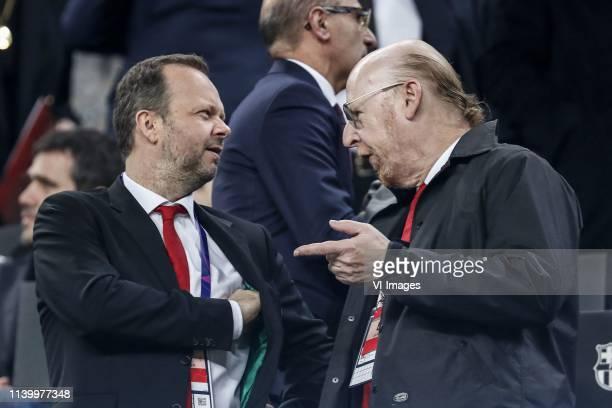 Manchester United Executive Vice Chairman and Director Edward Woodward, Manchester United Executive Co-Chairman and Director Avram Glazer during the...