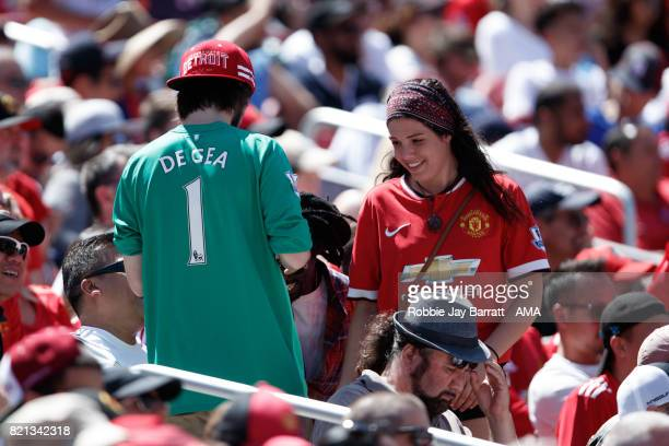 Manchester United fan wears a shirt with David de Gea of Manchester United on the back during the International Champions Cup 2017 match between Real...