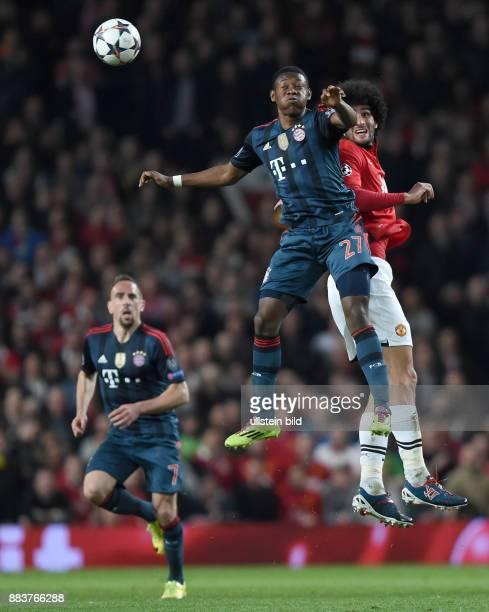 FUSSBALL CHAMPIONS Manchester United FC FC Bayern Muenchen David Alaba gegen Marouane Fellaini