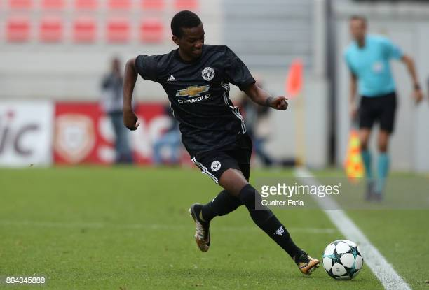 Manchester United FC forward Joshua Bohui in action during the UEFA Youth League match between SL Benfica and Manchester United FC at Caixa Futebol...