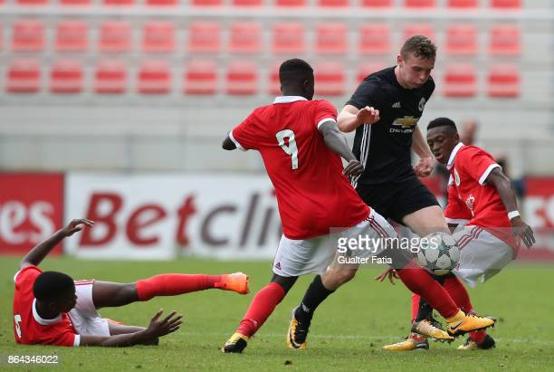Manchester United FC midfielder Ethan Hamilton in action during the UEFA Youth League match between SL Benfica and Manchester United FC at Caixa...