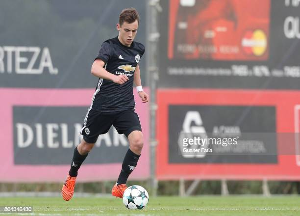 Manchester United FC midfielder Lee OConnor in action during the UEFA Youth League match between SL Benfica and Manchester United FC at Caixa Futebol...