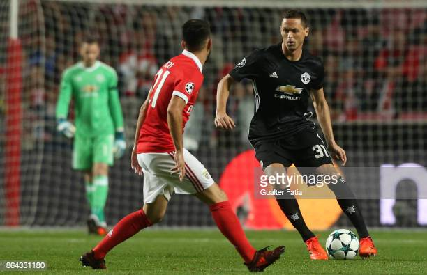 Manchester United FC midfielder Nemanja Matic from Serbia in action during the UEFA Champions League match between SL Benfica and Manchester United...