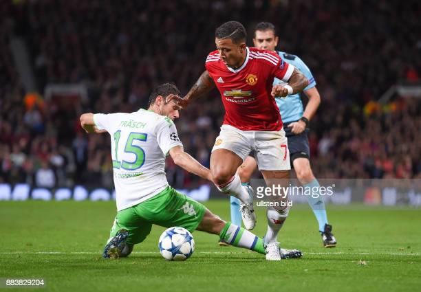 FUSSBALL Manchester United FC VfL Wolfsburg Christian Traesch gegen Memphis Depay