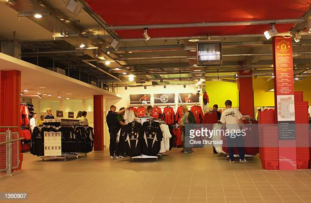Manchester United Football Club Megastore in Manchester on August 17 2002