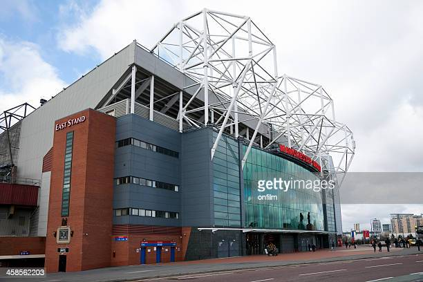 manchester united football stadium, old trafford - manchester united old trafford stock photos and pictures