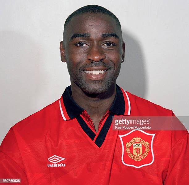 Manchester United footballer Andrew Cole circa 1995