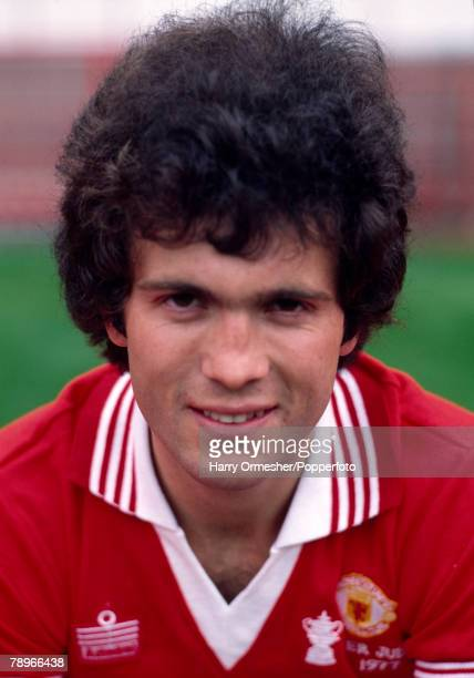 Football Season 1977/8 Manchester United Photocall A portrait of Chris McGrath