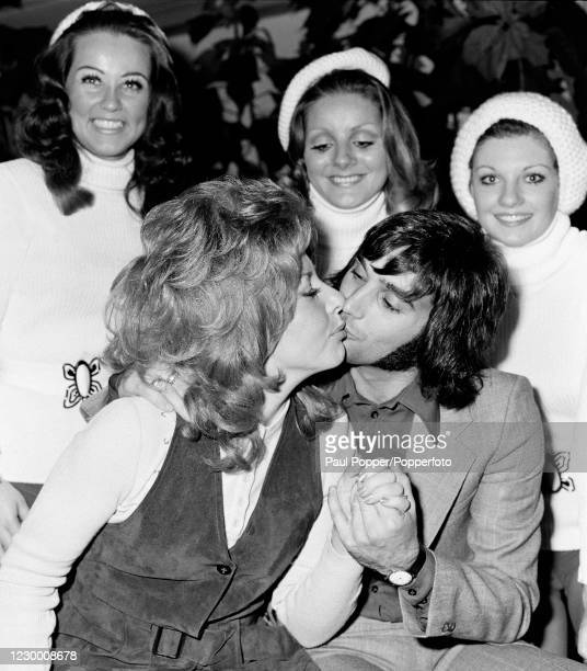 Manchester United footballer George Best attending a Christmas show in Manchester, circa December 1971.