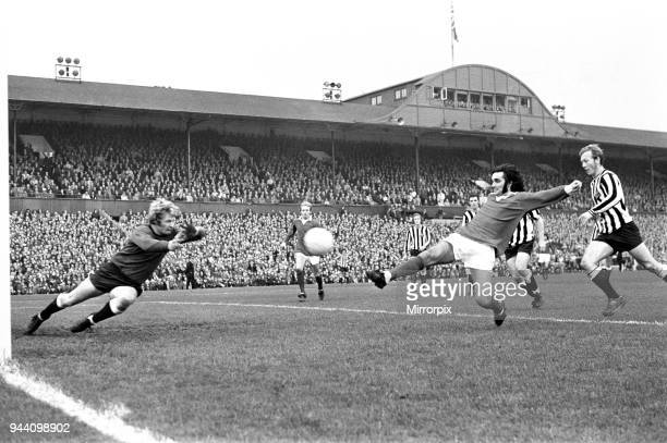 Manchester United footballer George Best in action against Newcastle United during the League Division One match match at St James Park, 23rd October...