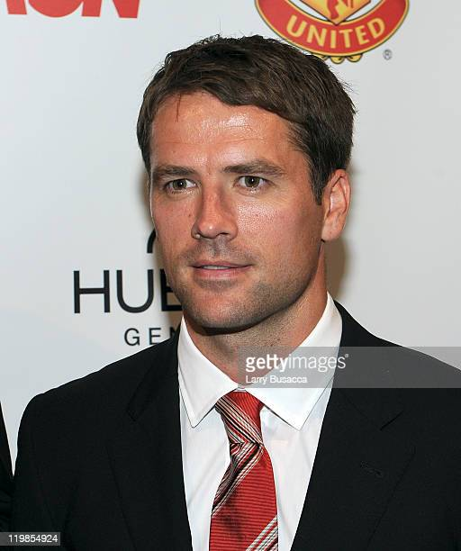 Manchester United footballer Michael Owen attends Hublot Art of Fusion fashion show with Sir Alex Ferguson Manchester United at Cipriani Wall Street...