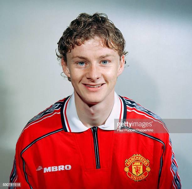 Manchester United footballer Ole Gunnar Solskjaer circa August 1998