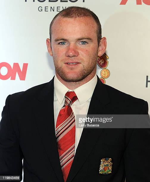 Manchester United footballer Wayne Rooney attends Hublot Art of Fusion fashion show with Sir Alex Ferguson Manchester United at Cipriani Wall Street...