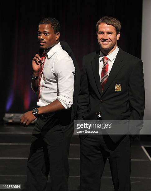 Manchester United footballers walk the runway during Hublot Art of Fusion fashion show with Sir Alex Ferguson Manchester United at Cipriani Wall...