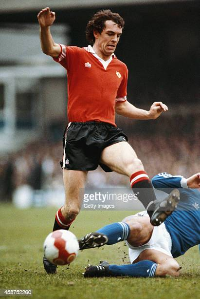 Manchester United forward Joe Jordan in action during a League Division One match between Ipswich Town and Manchester United at Portman Road on March...