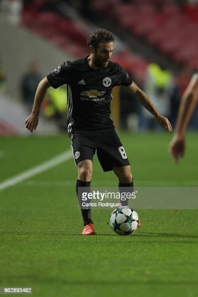 Manchester United forward Juan Manuel Mata from Spain during SL Benfica v Manchester United UEFA Champions League round three match at Estadio da Luz...