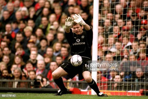 Manchester United goalkeeper Andy Goram makes a save