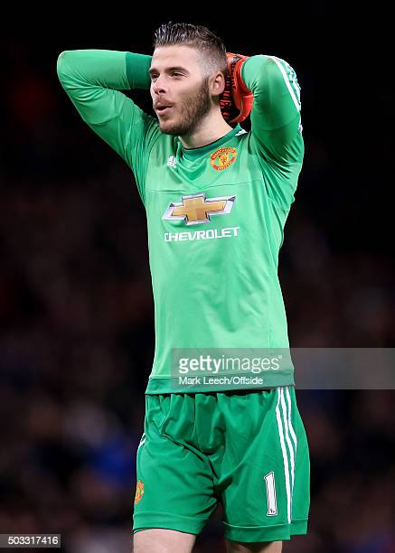 Manchester United goalkeeper David de Gea during the Barclays Premier League match between Manchester United and Chelsea at Old Trafford on December...