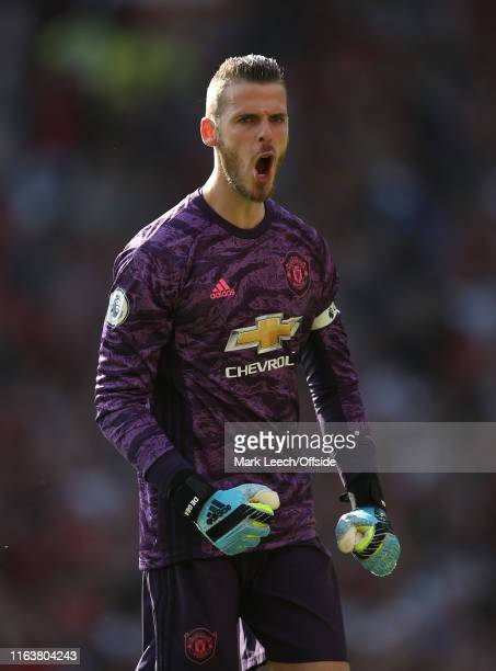 Manchester United goalkeeper David De Gea during the Premier League match between Manchester United and Crystal Palace at Old Trafford on August 24...