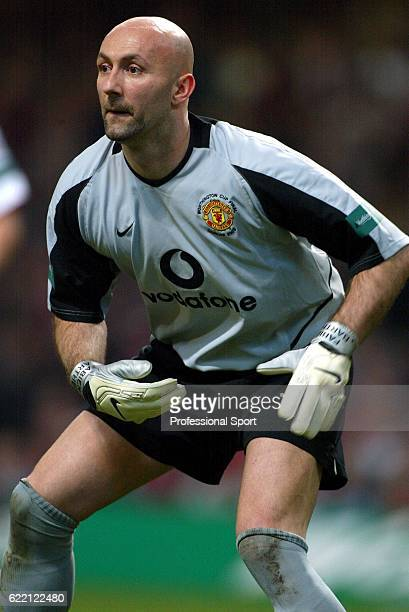 Manchester United goalkeeper Fabien Barthez in action during the Worthington Cup Final held on March 2 2003 at the Millennium Stadium in Cardiff...