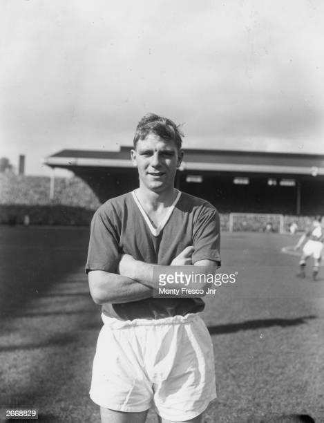Manchester United left-half Duncan Edwards, 1st October 1956.
