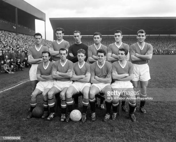 Manchester United line up for a group photo before the Football League Division One match between Preston North End and Manchester United at Deepdale...