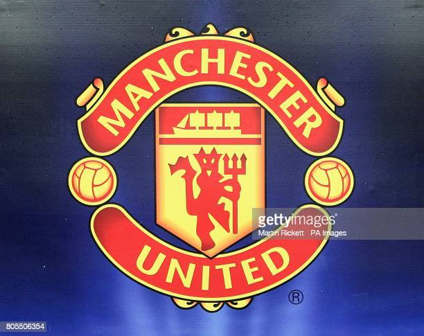 Manchester united logo stock photos and pictures getty images manchester united logo voltagebd Gallery