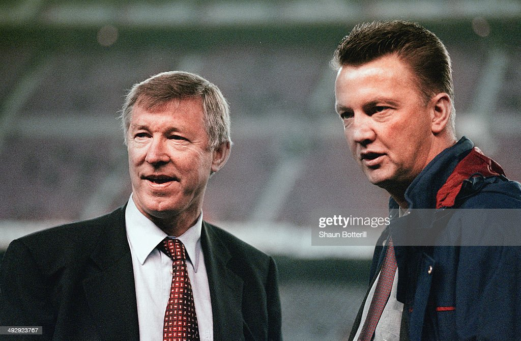 Manchester United Manager Alex Ferguson And Barcelona