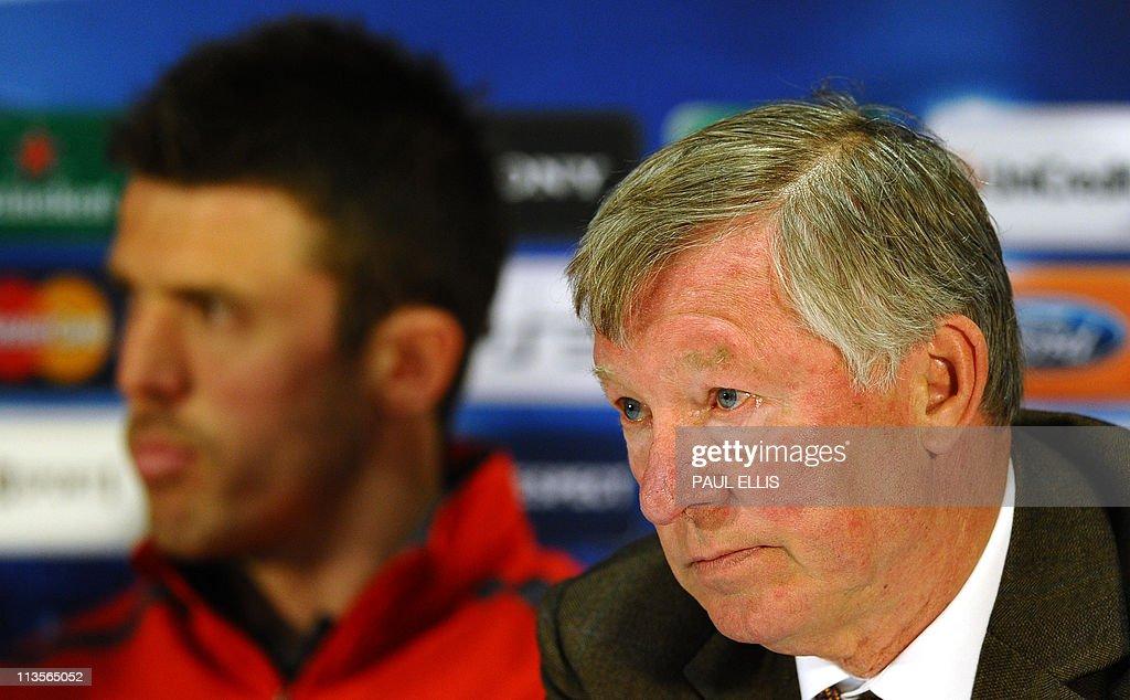 Manchester United manager Alex Ferguson : News Photo