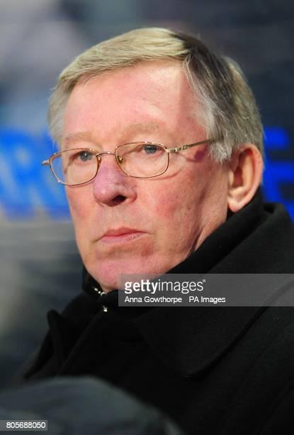 Manchester United manager Alex Ferguson prior to kick off