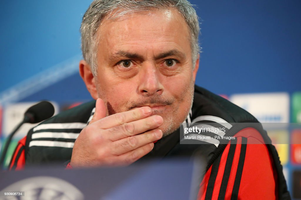 Manchester United manager Jose Mourinho during the press conference at Old Trafford, Manchester.