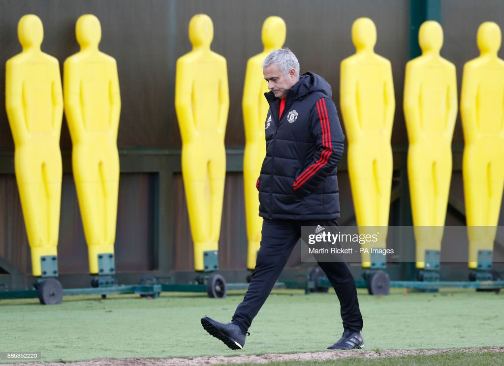 Manchester United manager Jose Mourinho during the training session at the AON Training Complex, Carrington.