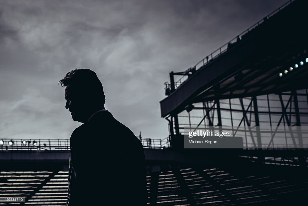 Manchester United manager Louis van Gaal looks on during the Barclays Premier League match between Manchester United and Everton at Old Trafford on October 5, 2014 in Manchester, England.