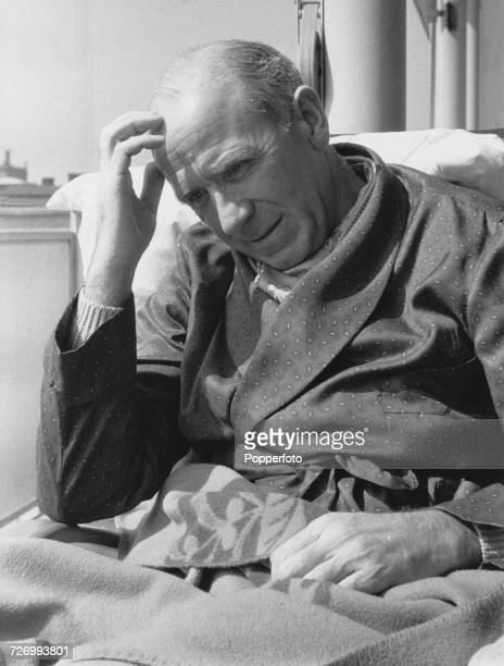 Manchester United manager Matt Busby in a Munich hospital with serious injuries following the plane crash on 6th February which killed 23 people...