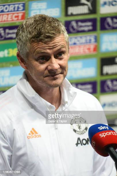 Manchester United Manager Ole Gunnar Solskjaer during the Premier League match between Newcastle United and Manchester United at St James Park on...