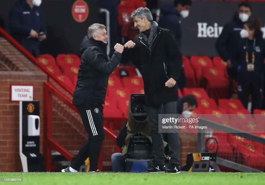 Manchester United v Real Sociedad - UEFA Europa League - Round of 32 - Second Leg - Old Trafford : News Photo