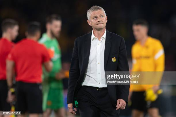 Manchester United Manager Ole Gunnar Solskjær shows dejection after the UEFA Champions League group F match between BSC Young Boys and Manchester...