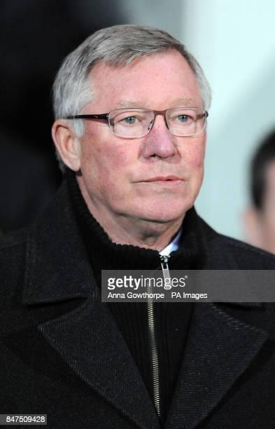 Manchester United manager Sir Alex Ferguson during the Barclays Premier League match at Ewood Park Blackburn
