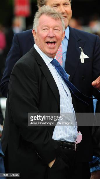 Manchester United manager Sir Alex Ferguson in the parade ring at the Ebor Festival at York Racecourse