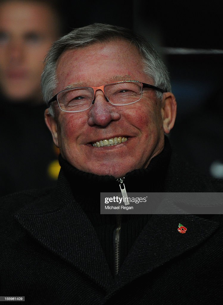Manchester United Manager Sir Alex Ferguson smiles prior to the Barclays Premier league match between Aston Villa and Manchester United at Villa Park on November 10, 2012 in Birmingham, England.