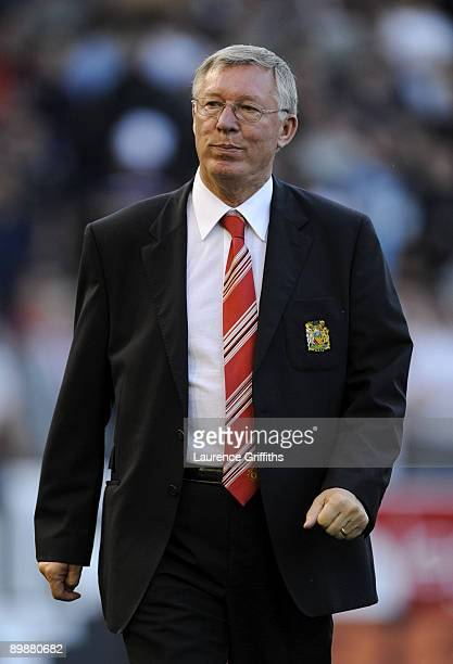 Manchester United Manager Sir Alex Ferguson walks towards the bench during the Barclays Premier League match between Burnley and Manchester United at...
