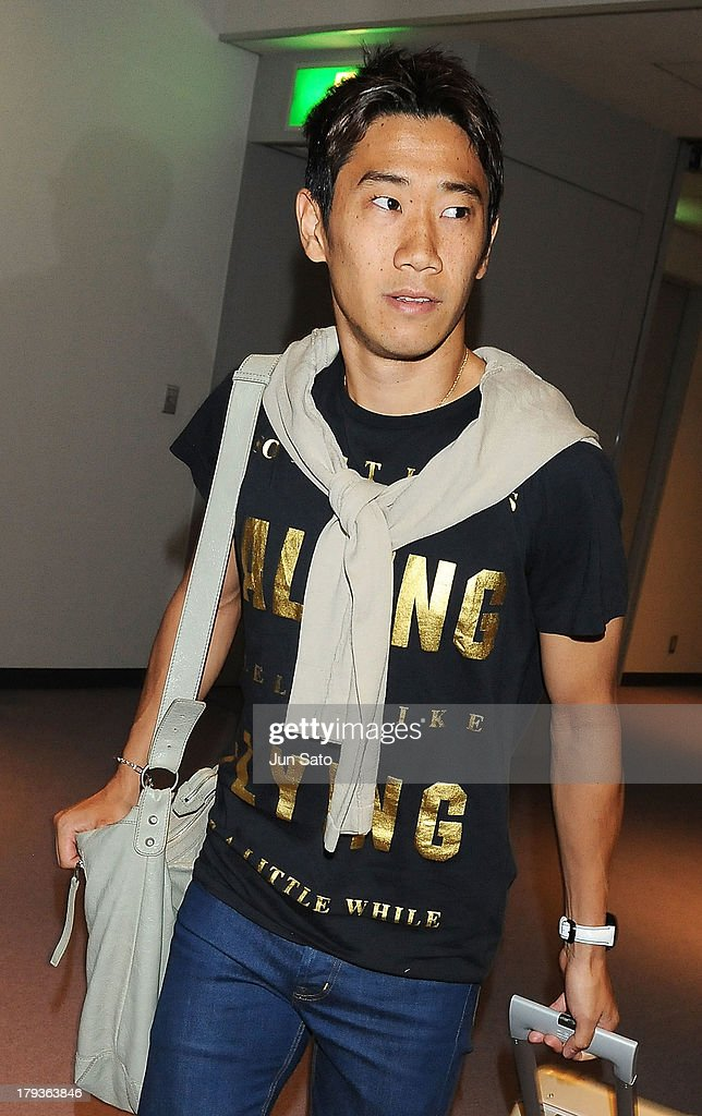 Manchester United midfielder Shinji Kagawa is seen upon airport arrival on September 2, 2013 in Tokyo, Japan.