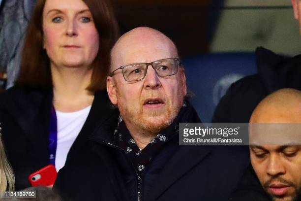 Manchester United owner Avram Glazer looks on ahead of the UEFA Champions League Round of 16 Second Leg match between Paris Saint-Germain and...
