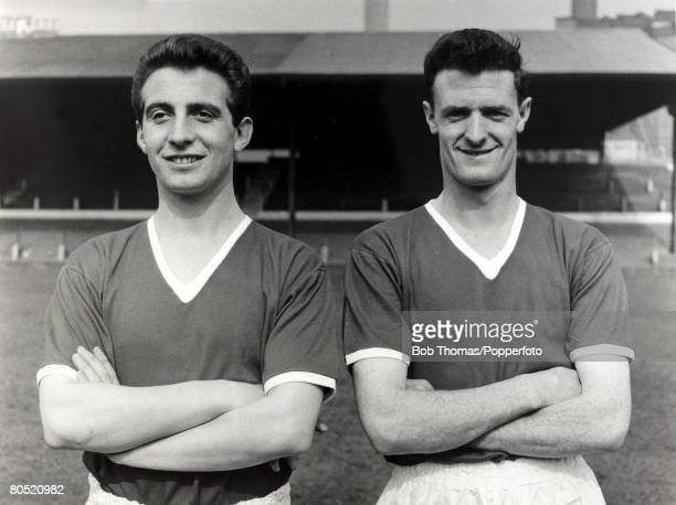 Manchester United pair David Pegg and Liam Whelan pictured at Old Trafford Both players from the team known as the Busby Babes died in the Munich Air...