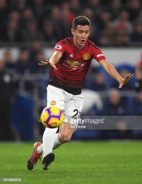 Manchester United player Ander Herrera in action during the Premier League match between Cardiff City and Manchester United at Cardiff City Stadium...