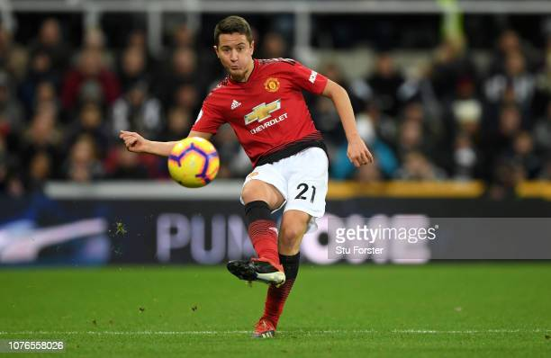 Manchester United player Ander Herrera in action during the Premier League match between Newcastle United and Manchester United at St James Park on...