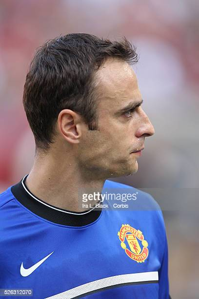 Manchester United player Dimitar Berbatov prior to the World Football Challenge Friendly match between FC Barcelona and Manchester United. Manchester...