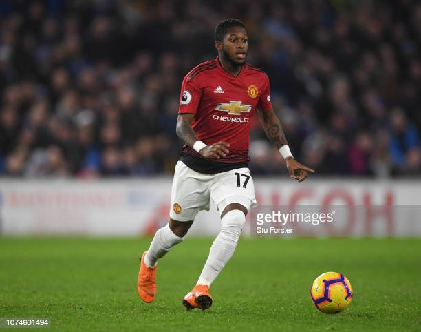 Manchester United player Fred in action during the Premier League match between Cardiff City and Manchester United at Cardiff City Stadium on...