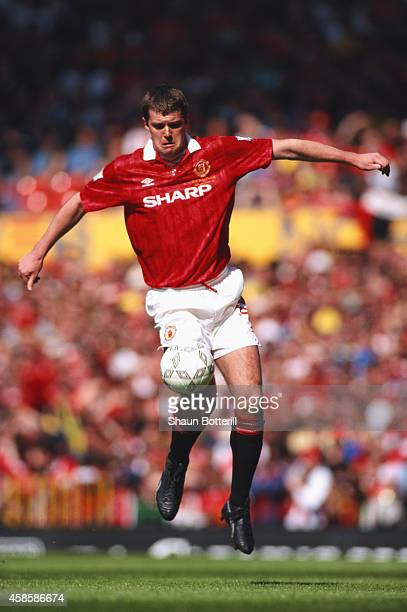 Manchester United player Gary Pallister in action during an FA Premier League match between Manchester United and Coventry City at Old Trafford on...